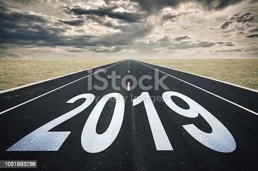 istock 2019 Road perspective, dark clouds, crisis concept 1051693298