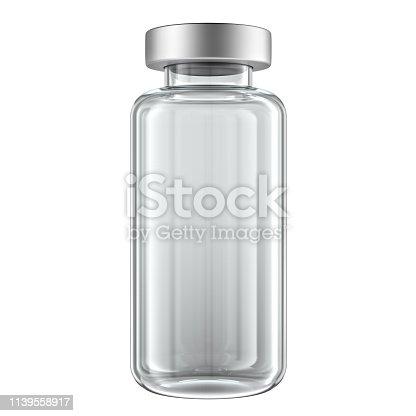 3d glass vial