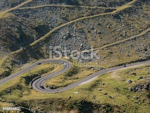 Winding road of Transfagarasan, Romania