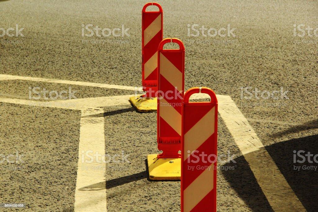 Road pillar stock photo