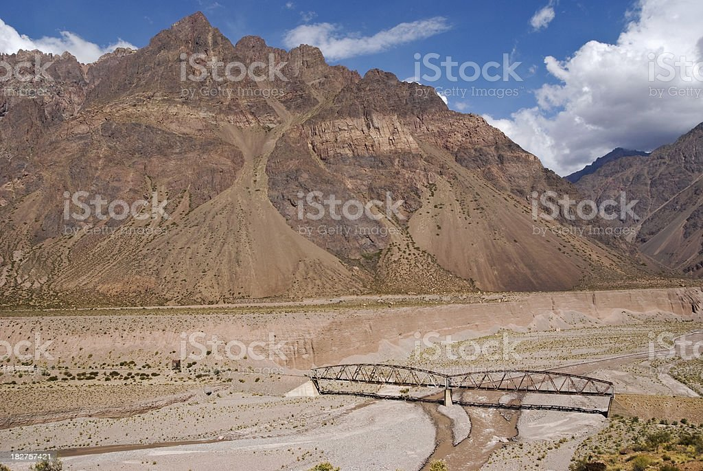 Road RA7, Mendoza, Andes, Argentina stock photo