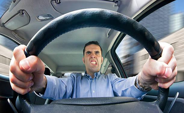 Road rage (male – Foto