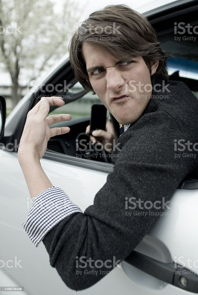 Road Rage royalty-free stock photo