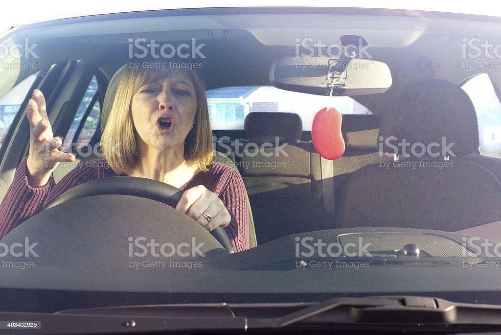 Road rage stock photo
