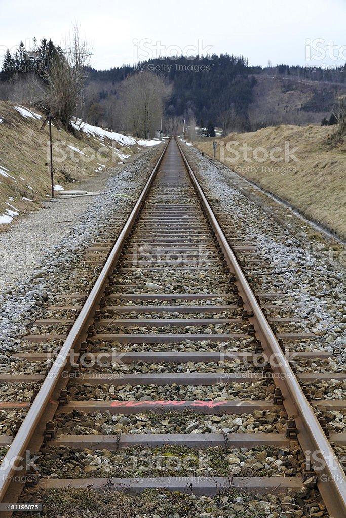 Road rails stock photo