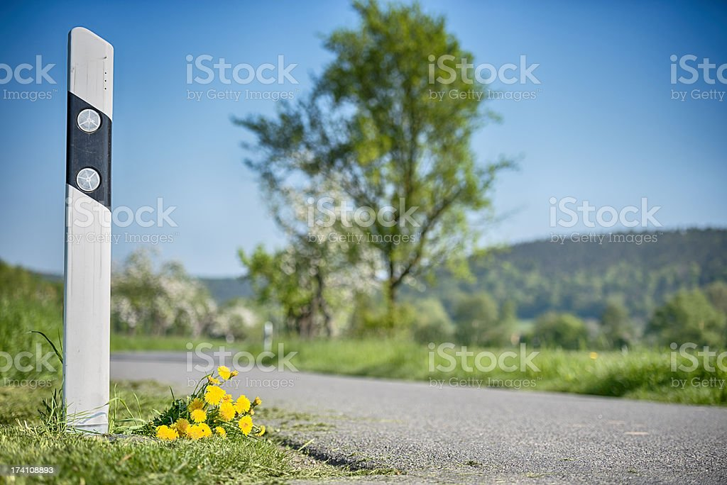 Road reflectors royalty-free stock photo