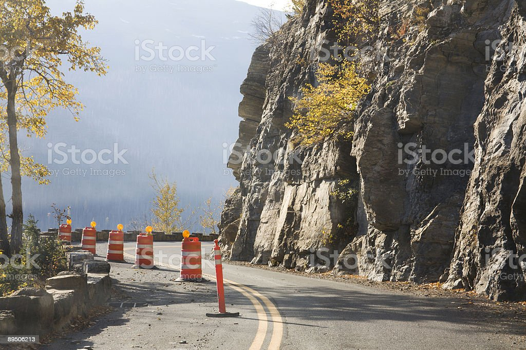 Road Repairs on Going to the Sun royalty-free stock photo