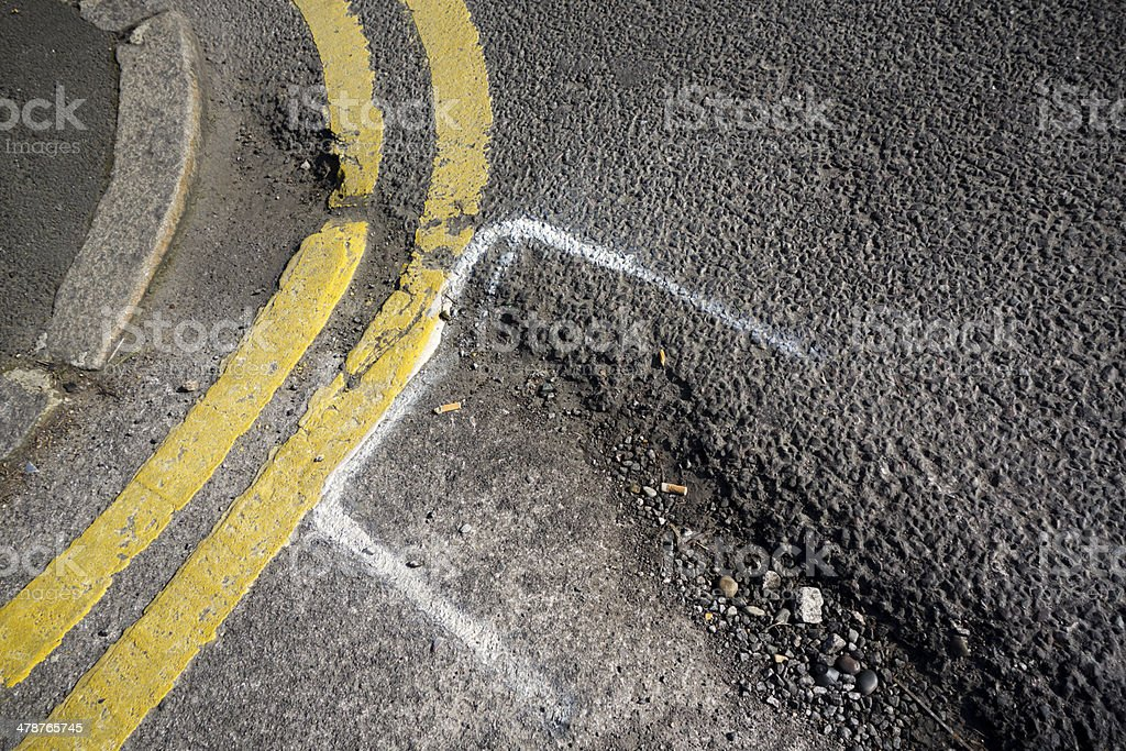 Road repairs required royalty-free stock photo