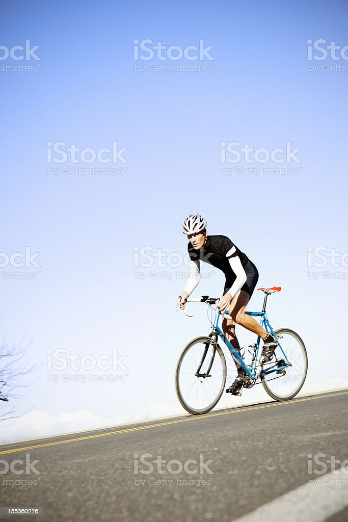 Road riding cyclist training royalty-free stock photo