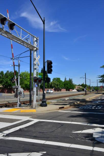 Straßenkreuzung in Sacramento, Kalifornien. – Foto