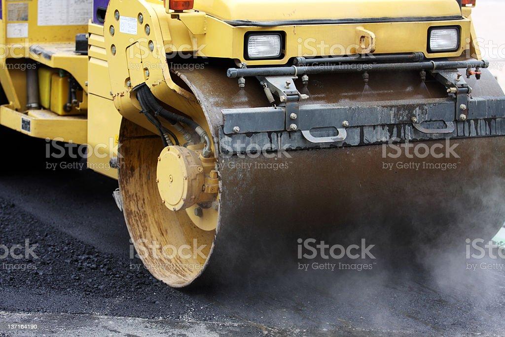 Road roller in Aktion Lizenzfreies stock-foto