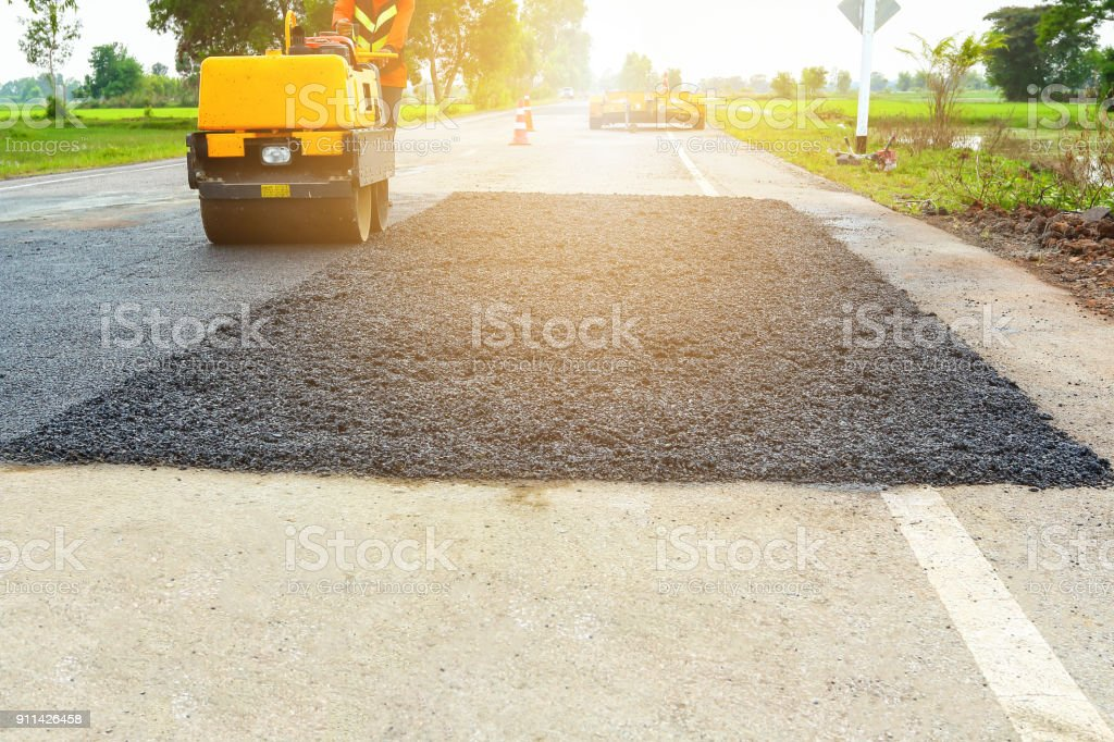 Road Roller. stock photo
