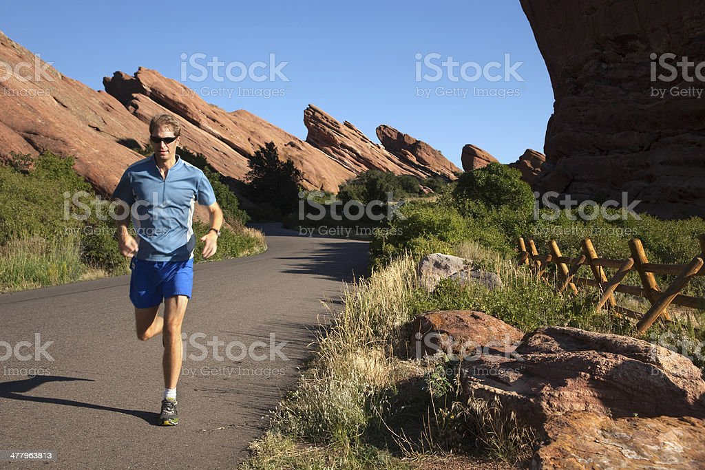 Road running Red Rocks Park Colorado royalty-free stock photo