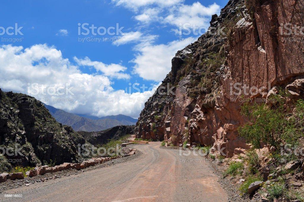 Road Ruta 40 in Cuesta de Miranda. Argentina stock photo
