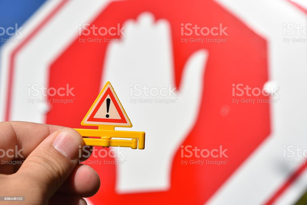 road safety Concept stock photo