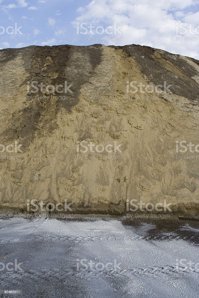 Road sand and salt royalty-free stock photo