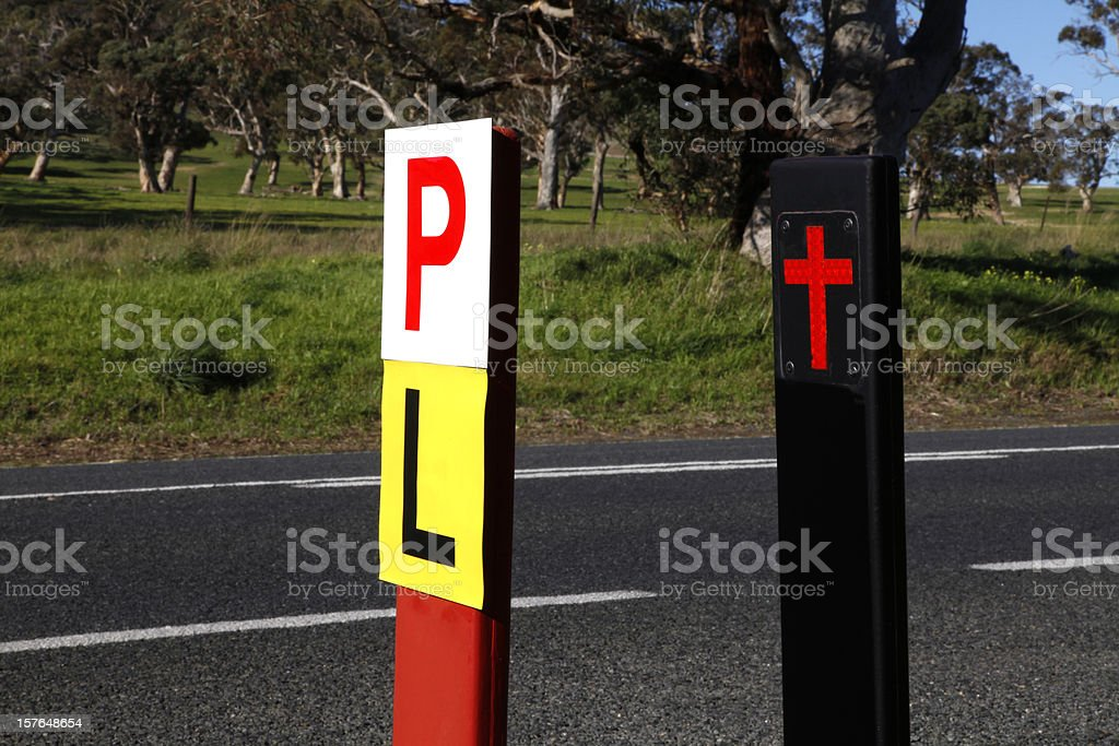 Road Side Safety royalty-free stock photo