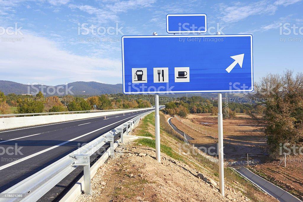 Straßenschild am highway – Foto