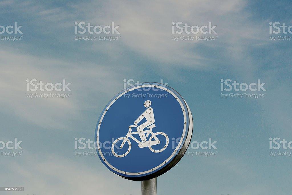 road sign - bicycle lane royalty-free stock photo