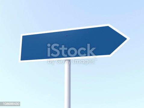 istock Road Sign Blank 108688430