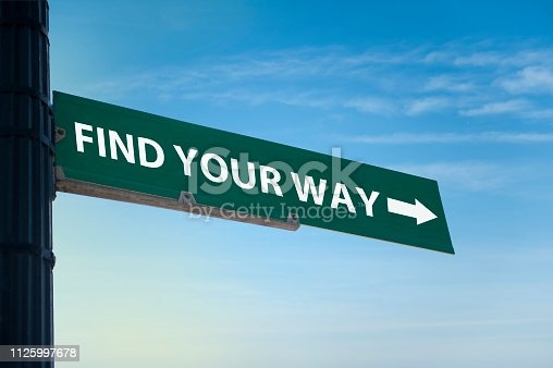 istock FIND YOUR WAY / Road sign concept (Click for more) 1125997678