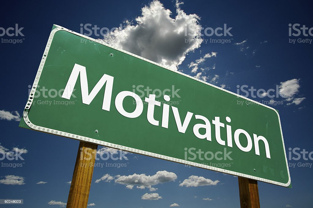 Road sign display reading motivation royalty-free stock photo