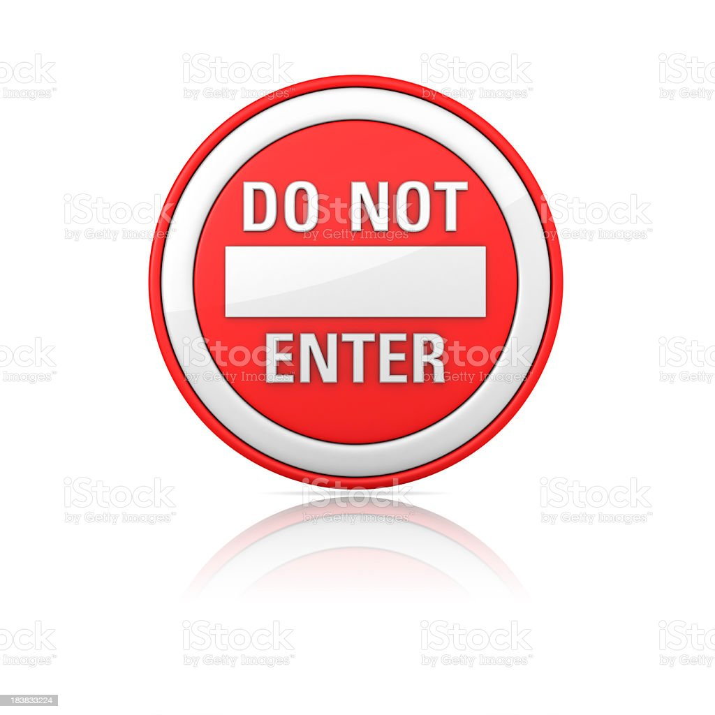 Road Sign - DO NOT ENTER royalty-free stock photo