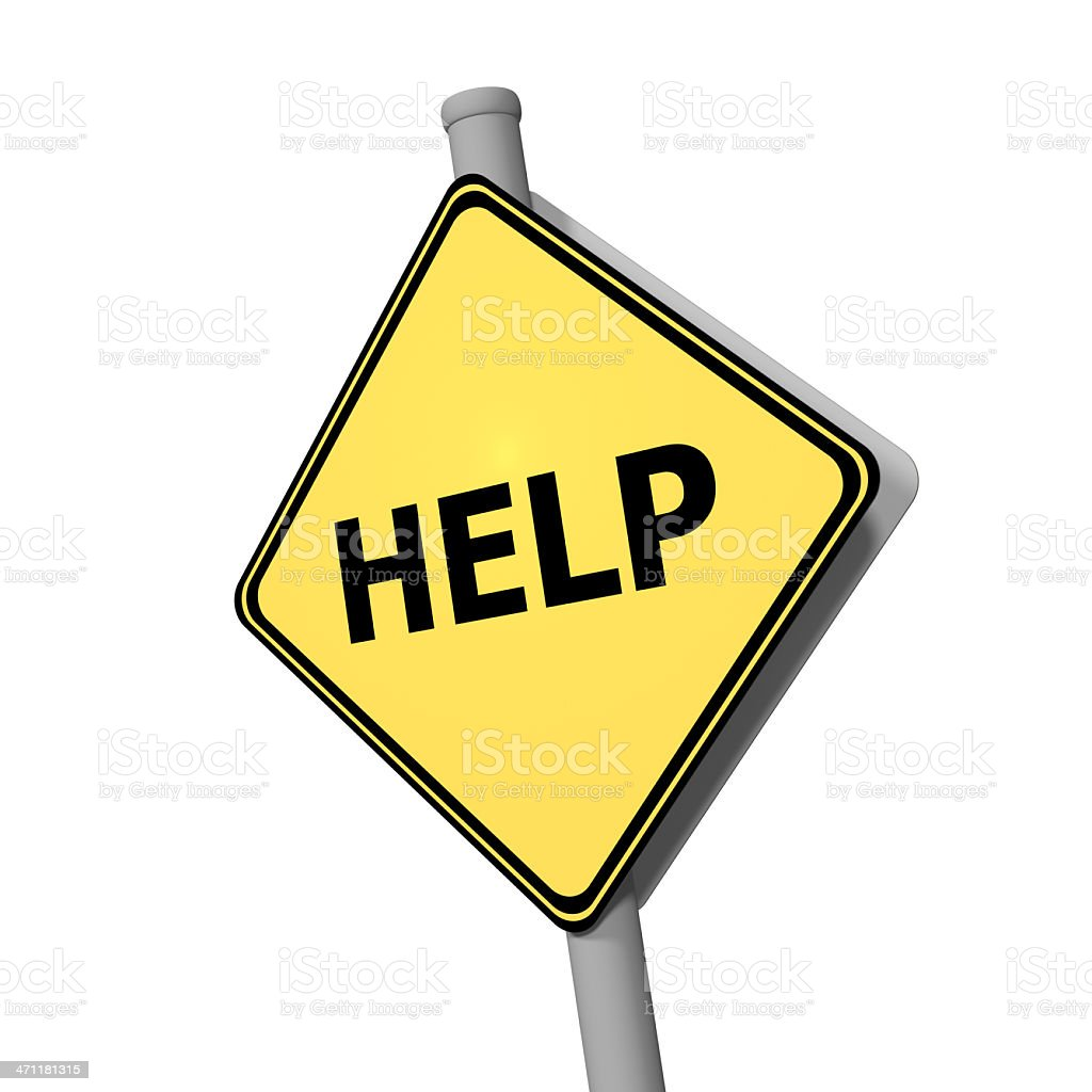 Road Sign - Help royalty-free stock photo