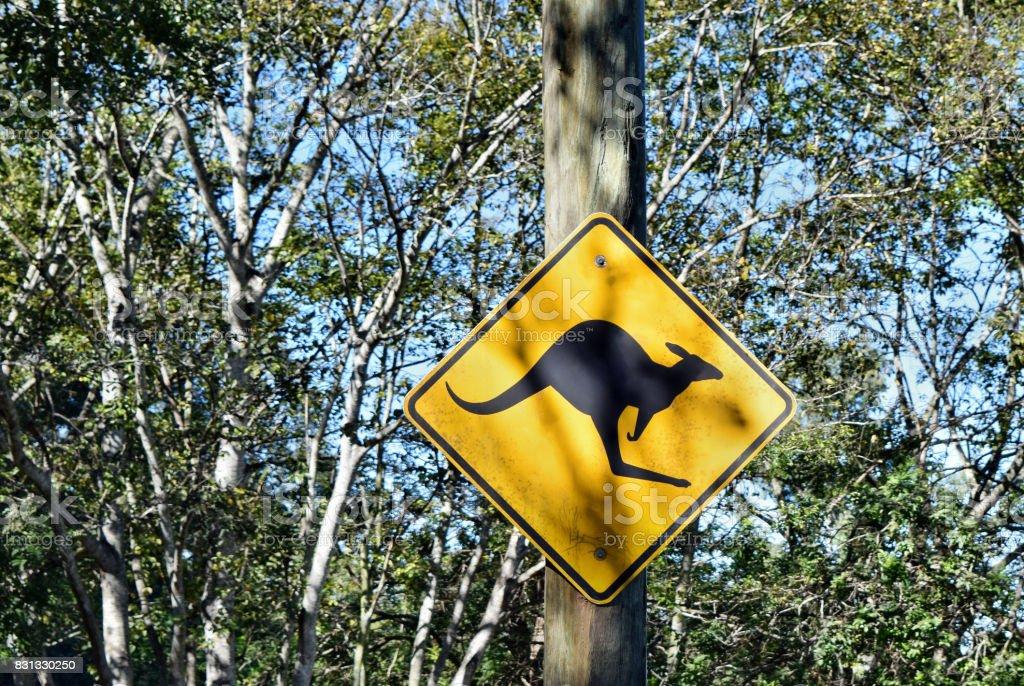 Road sign in Australia stock photo
