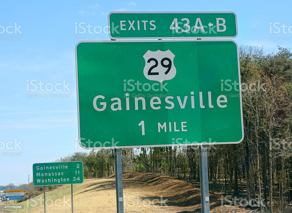 Road sign in Northern Virginia stock photo