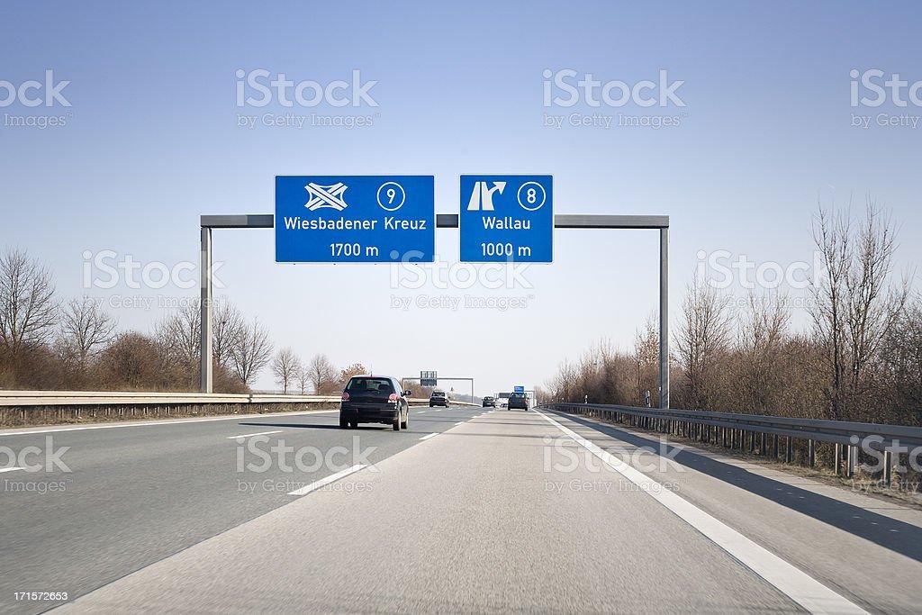 Road sign auf Deutsche autobahn A66 – Foto