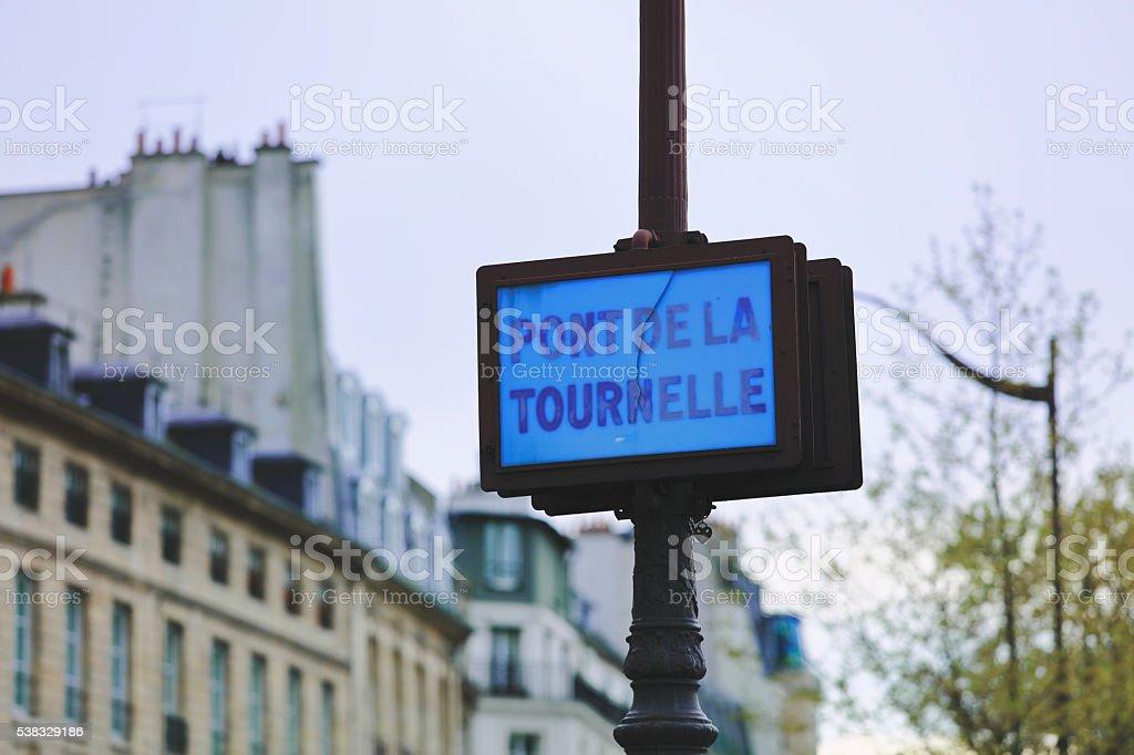 Road Sign, Paris stock photo