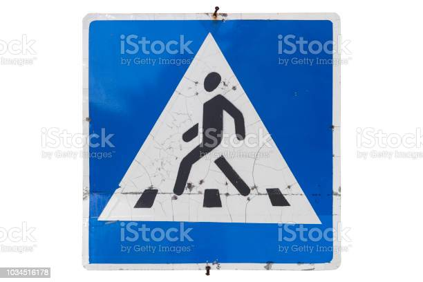 Road sign pedestrian crossing with cracks isolated on white picture id1034516178?b=1&k=6&m=1034516178&s=612x612&h=p6zayu5an8azwo8ipgo2mjkslnyjvb3iluz r6taqfk=