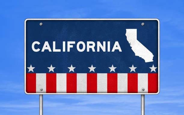 Kalifornien - Straßenschild – Foto