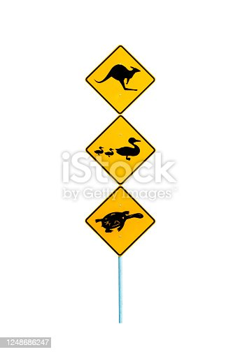 Typical road sign found at an Australian public park or nature reserve