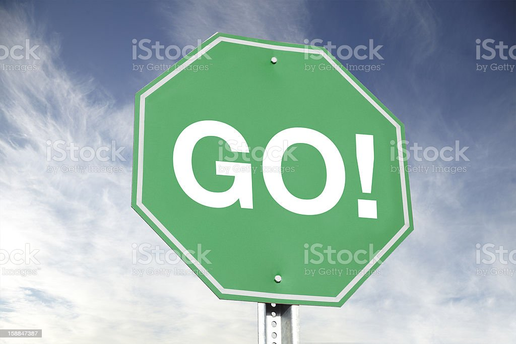 GO! Road Sign royalty-free stock photo
