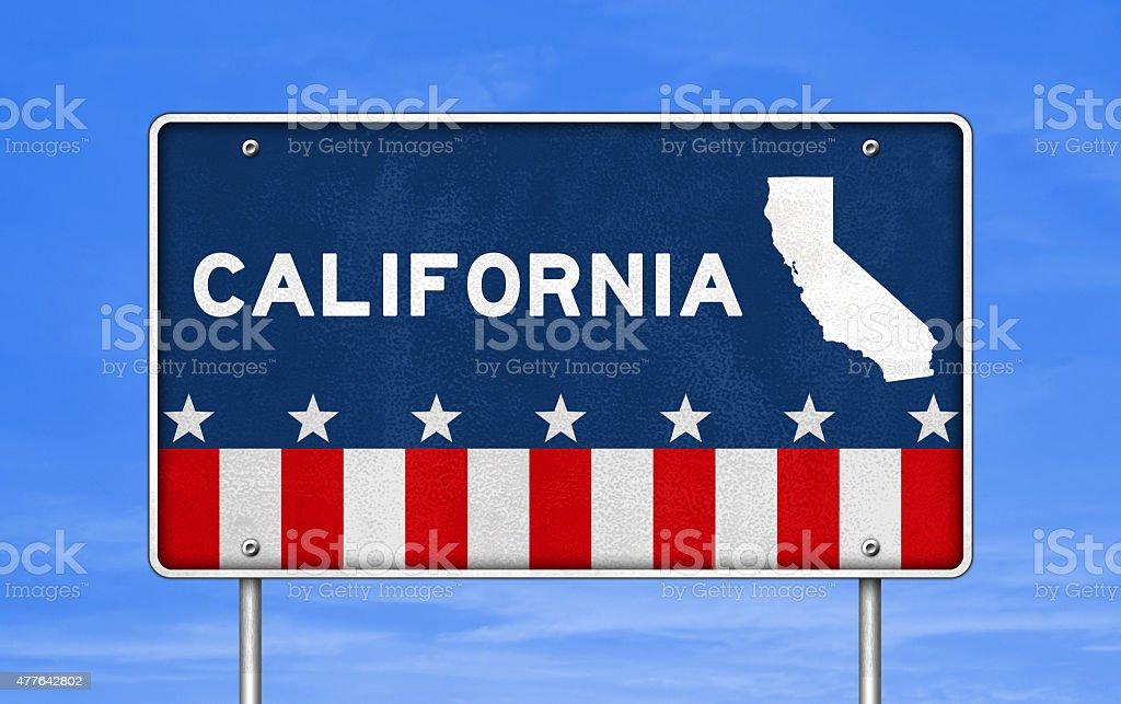 CALIFORNIA - road sign stock photo