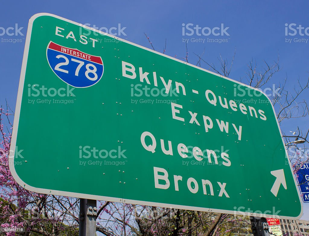 NYC Road Sign stock photo