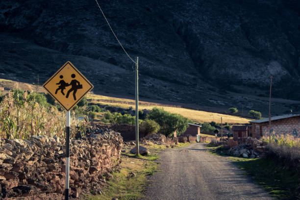 Road sign rural stock photo