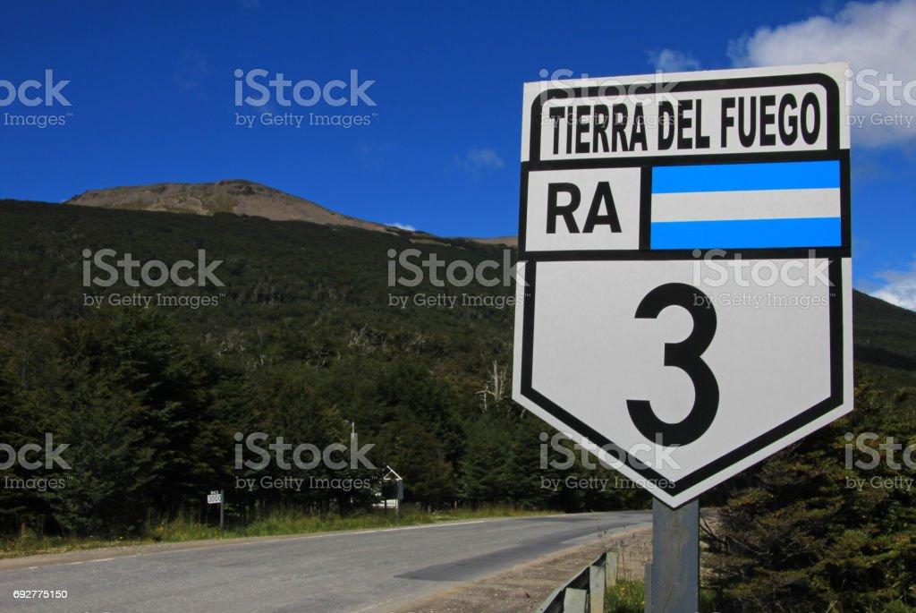 Road sign ruta route 40, Argentina stock photo