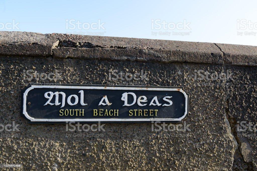 Straßenschild, Schottland-Hebriden – Foto
