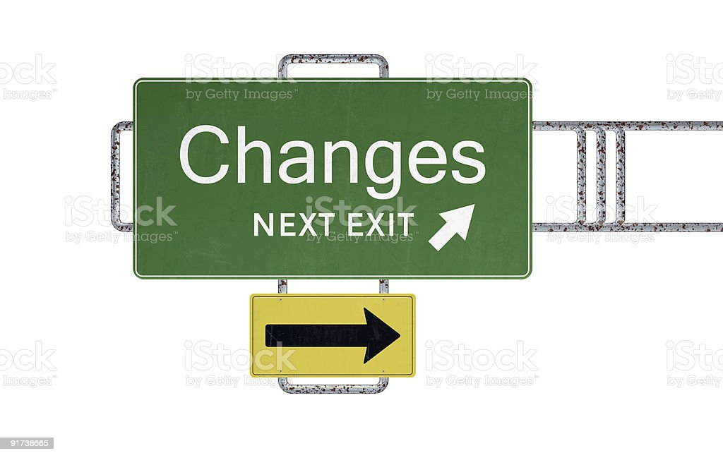 XXXL Road Sign Series - CHANGES royalty-free stock photo