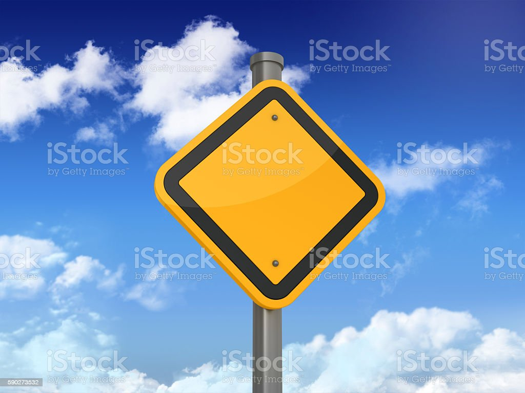 Road Sign Series - EMPTY stock photo