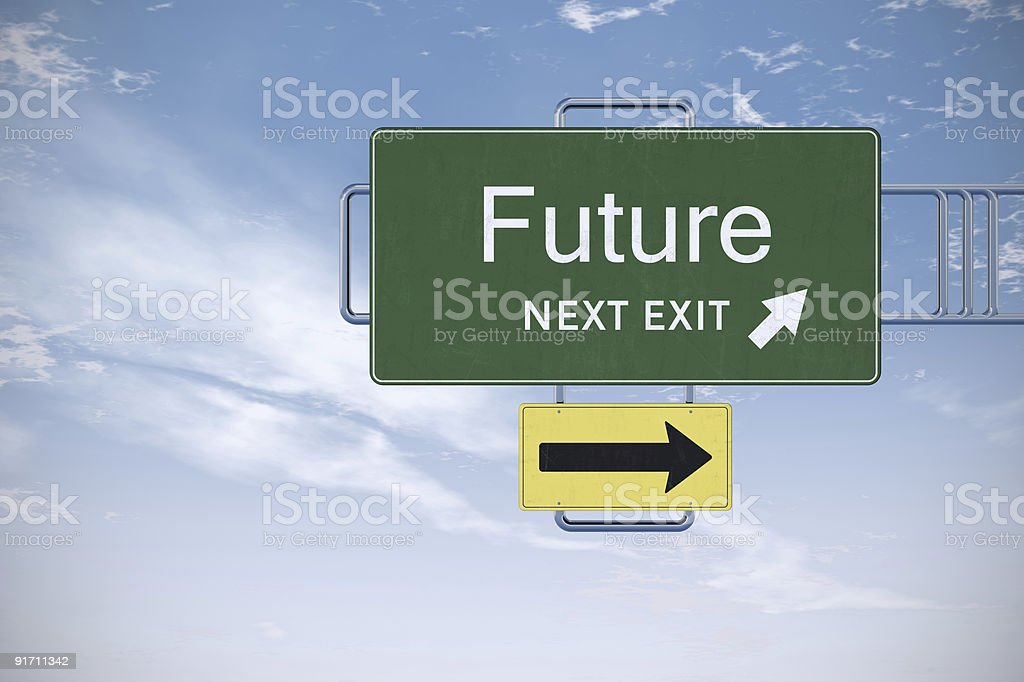 XXXL Road Sign Series - FUTURE royalty-free stock photo
