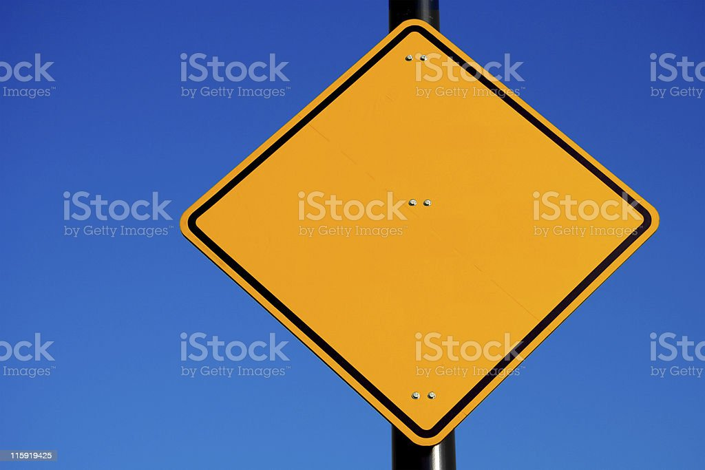 Road Sign: Space for Text royalty-free stock photo