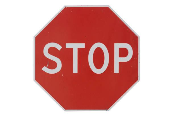 señal de tráfico dejar aislado en blanco. - stop sign fotografías e imágenes de stock