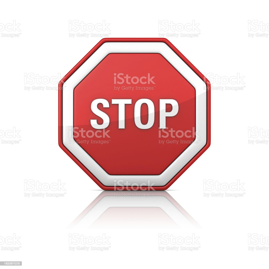 Road Sign - STOP royalty-free stock photo