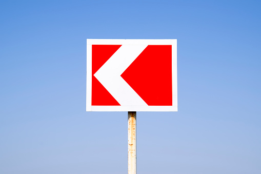 istock Road sign. The sign of the crossing 917014264