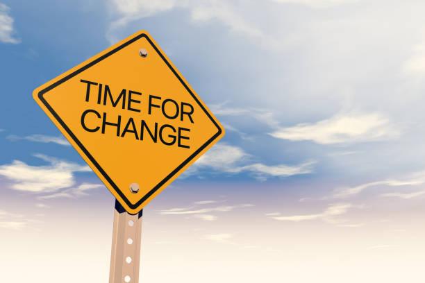 Straße Zeichen Zeit für Veränderung – Foto