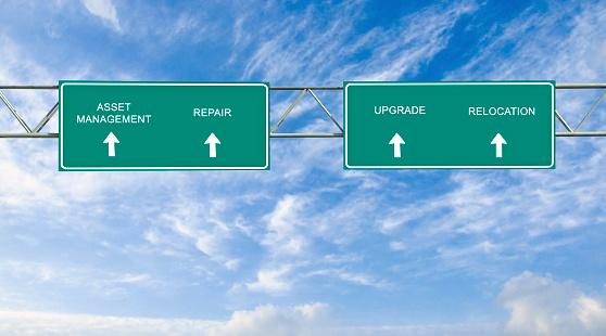 Verkeersbord Voor Assetmanagement Stockfoto en meer beelden van Apparatuur